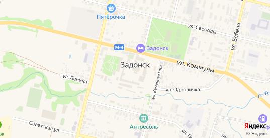 Улица М.Юшина в Задонске с номерами домов на карте. Спутник и схема онлайн