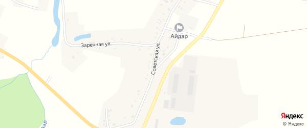 Советская улица на карте села Айдара с номерами домов