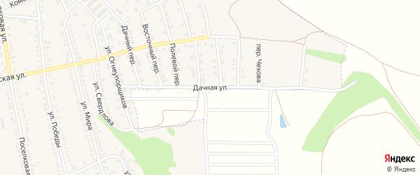 Дачная улица на карте территории СДТ Клена Воронежской области с номерами домов