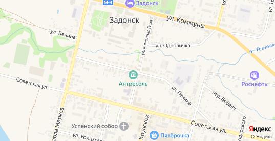 Улица Крупской в Задонске с номерами домов на карте. Спутник и схема онлайн