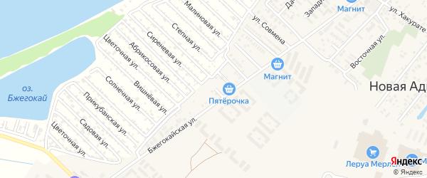 Южная улица на карте Закубанские садов Адыгеи с номерами домов