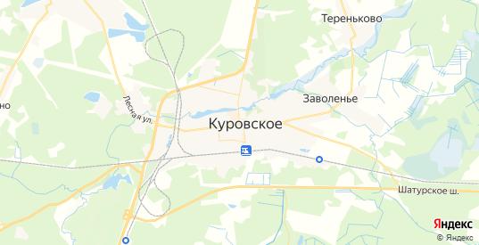 Карта Куровского с улицами и домами подробная. Показать со спутника номера домов онлайн