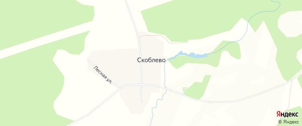 Карта села Скоблево в Ярославская области с улицами и номерами домов