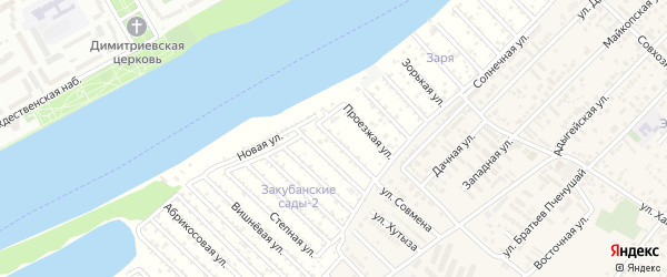 Сливовая улица на карте садового некоммерческого товарищества Закубанские сады 2 с номерами домов