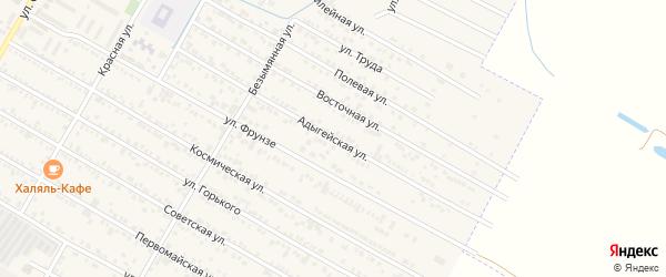 Адыгейская улица на карте поселка Энема Адыгеи с номерами домов