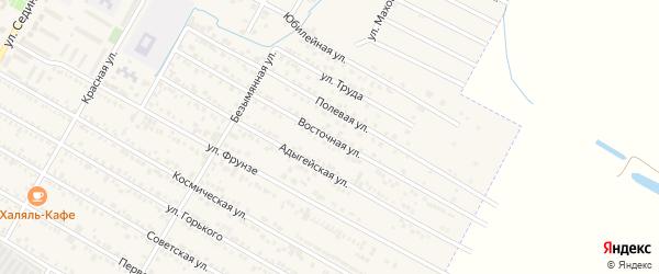 Восточная улица на карте поселка Энема Адыгеи с номерами домов