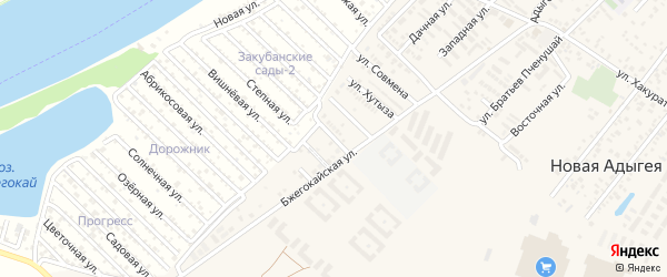 Садовая улица на карте Восход-2 Адыгеи с номерами домов
