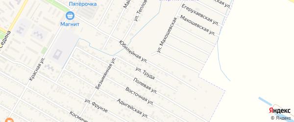 Юбилейная улица на карте поселка Энема с номерами домов