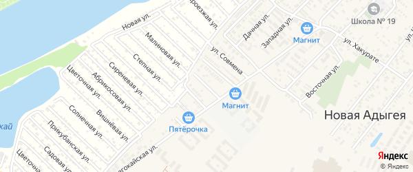 Архитектурная улица на карте аула Новой Адыгеи Адыгеи с номерами домов