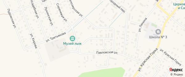 Переулок Связистов на карте Каргополя с номерами домов