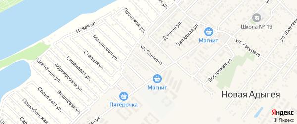 Улица Им Хутыза на карте аула Новой Адыгеи Адыгеи с номерами домов