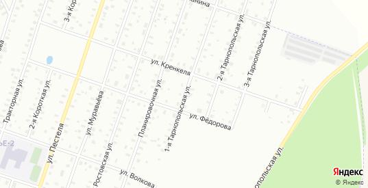 Папанина/1-я Тарнопольская улица в Рыбинске с номерами домов на карте. Спутник и схема онлайн
