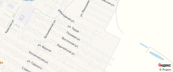 Улица Труда на карте поселка Энема Адыгеи с номерами домов