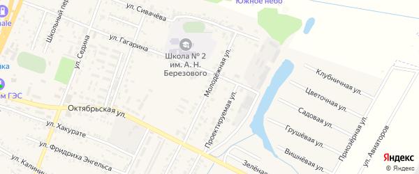 Молодежная улица на карте поселка Энема Адыгеи с номерами домов