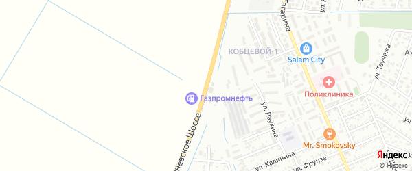 Улица Тургеневское шоссе на карте Яблоновского поселка Адыгеи с номерами домов