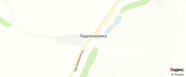 Карта села Ладомировки в Белгородской области с улицами и номерами домов