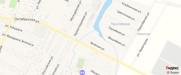Розовая улица на карте Приозерного Адыгеи с номерами домов