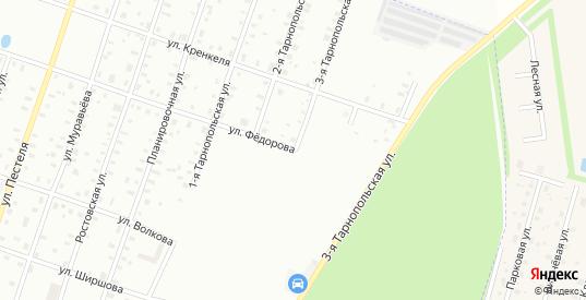 Федорова/3-я Тарнопольская улица в Рыбинске с номерами домов на карте. Спутник и схема онлайн