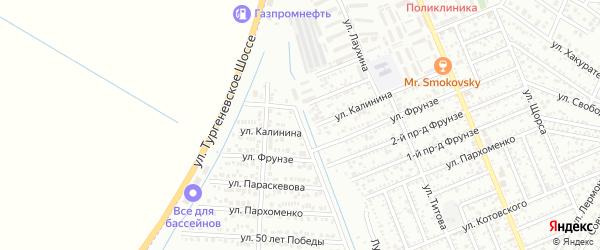 Улица Барона на карте Яблоновского поселка Адыгеи с номерами домов