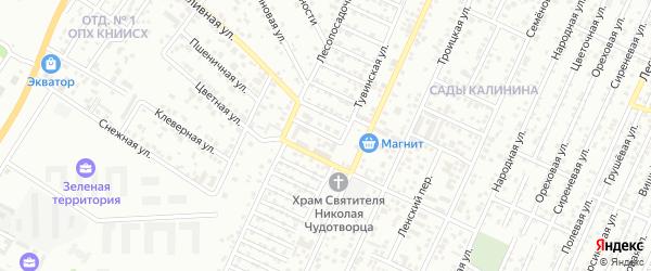Цветной переулок на карте Краснодара с номерами домов