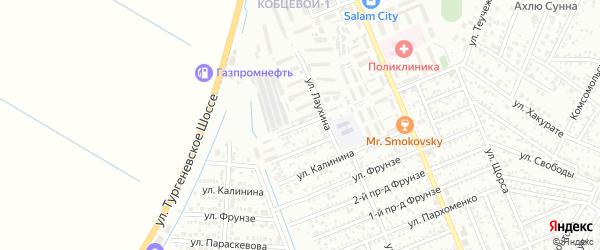 Энемская улица на карте Яблоновского поселка с номерами домов