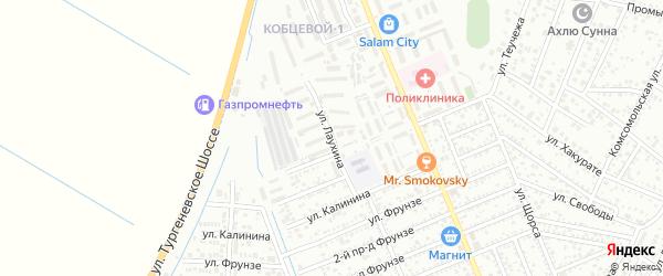 Улица Лаухина на карте Яблоновского поселка с номерами домов