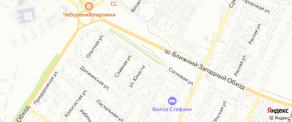 Сосновая улица на карте Краснодара с номерами домов
