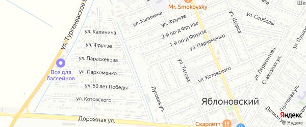 Улица Пархоменко на карте Яблоновского поселка Адыгеи с номерами домов