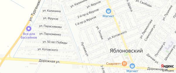Лабинский 2-й проезд на карте Яблоновского поселка Адыгеи с номерами домов