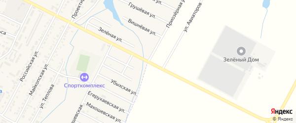 Абадзехская улица на карте Адыгейска с номерами домов