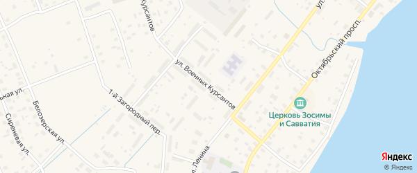 Улица Военных Курсантов на карте Каргополя с номерами домов