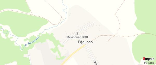 Центральная улица на карте деревни Ефаново Владимирской области с номерами домов