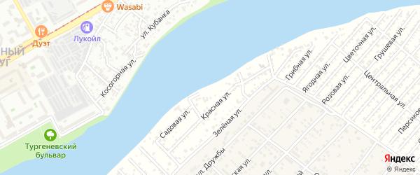 Набережная улица на карте Восход-2 Адыгеи с номерами домов