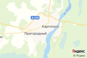 Карта г. Каргополь Архангельская область