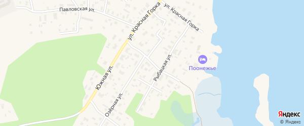 Полевая улица на карте Каргополя с номерами домов