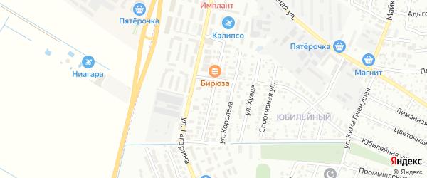 Новороссийская улица на карте Яблоновского поселка Адыгеи с номерами домов