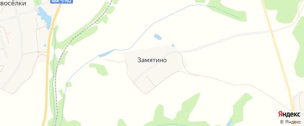 Карта деревни Замятино города Зарайска в Московской области с улицами и номерами домов