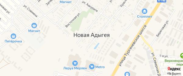 Тенистая улица на карте Закубанские садов 2 Адыгеи с номерами домов