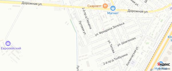 Луговая улица на карте Яблоновского поселка Адыгеи с номерами домов