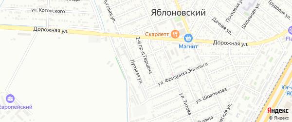Герцена 2-й проезд на карте Яблоновского поселка Адыгеи с номерами домов