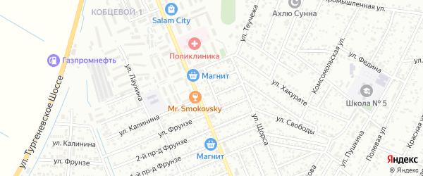 Кочубея 1-й проезд на карте Яблоновского поселка Адыгеи с номерами домов