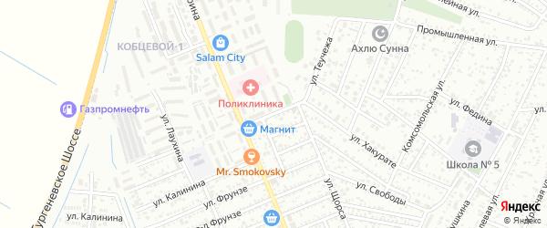 Улица Кочубея на карте Яблоновского поселка Адыгеи с номерами домов