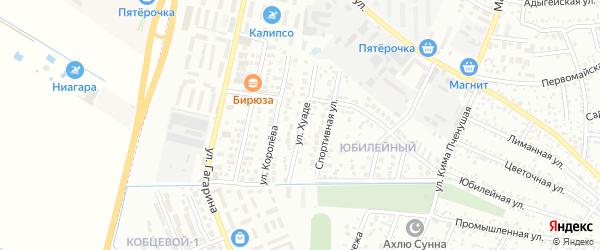 Улица Хуаде на карте Яблоновского поселка Адыгеи с номерами домов