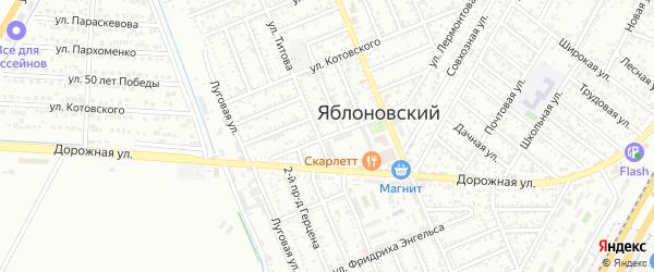 Улица Чапаева на карте Яблоновского поселка Адыгеи с номерами домов