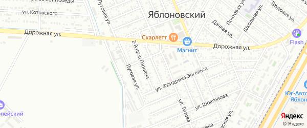 Герцена 1-й проезд на карте Яблоновского поселка Адыгеи с номерами домов