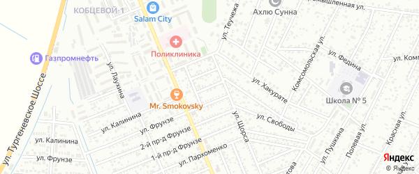 Кочубея 2-й проезд на карте Яблоновского поселка Адыгеи с номерами домов