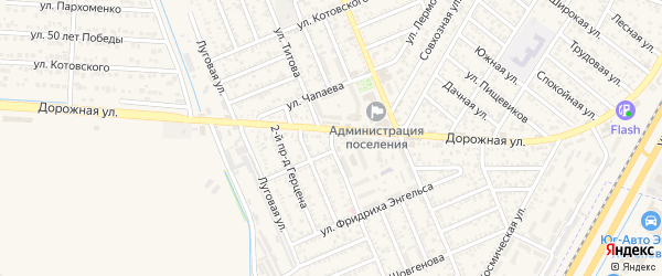 Улица Титова на карте Яблоновского поселка Адыгеи с номерами домов