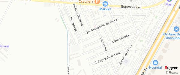 Энгельса 1-й проезд на карте Яблоновского поселка Адыгеи с номерами домов