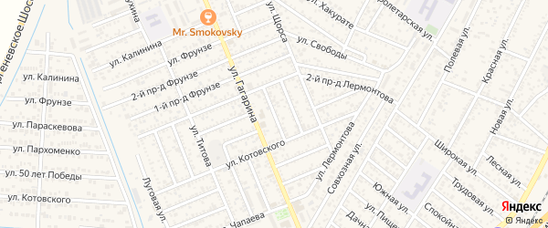 Пархоменко 2-й проезд на карте Яблоновского поселка Адыгеи с номерами домов