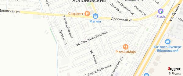 Улица Энгельса на карте Яблоновского поселка Адыгеи с номерами домов
